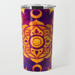 """Witchcraft""  WATERCOLOR MANDALA (HAND PAINTED) BY ILSE QUEZADA Travel Mug"