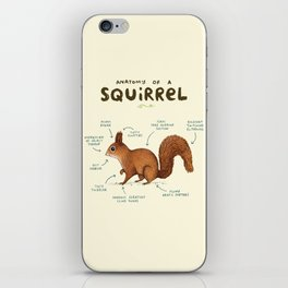 Anatomy of a Squirrel iPhone Skin