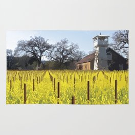 Water Tower & Mustard - Napa Valley - St. Helena District Rug