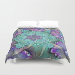 Find Yourself, Abstract Fractal Art Duvet Cover