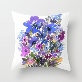 Heavenly Blues and Purples Throw Pillow