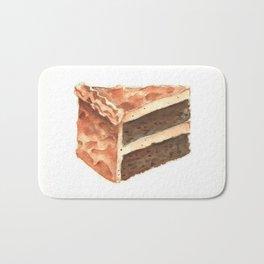 Chocolate Cake Slice Bath Mat