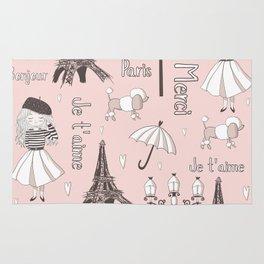 Paris Girl - Pink Rug