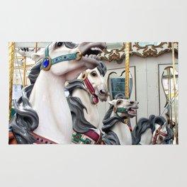 Carousel horses 02 Rug