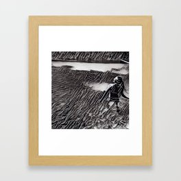 Springs in black and white Framed Art Print