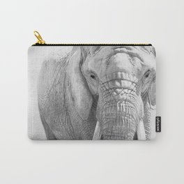 Elephant Photography | Wildlife Art | African | Nature | Animal Photography | Black and White Carry-All Pouch