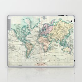 Vintage Map of The World (1801) Laptop & iPad Skin