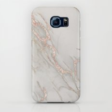 Marble Rose Gold Blush Pink Metallic by Nature Magick Slim Case Galaxy S8