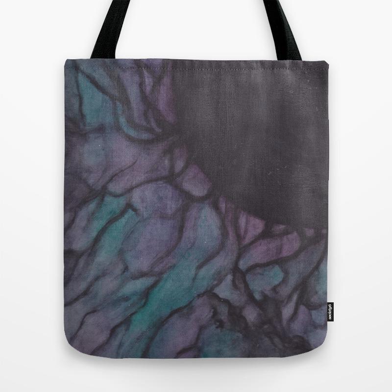Black Veins Tote Bag by Catclaww TBG8910655