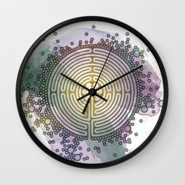 Meditative Labyrinth Wall Clock