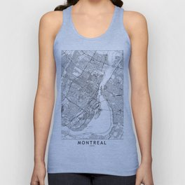 Montreal White Map Unisex Tank Top