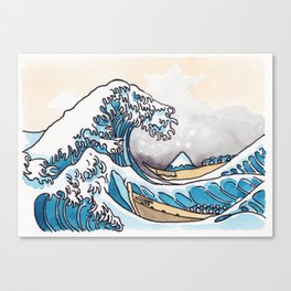 The Shitty Great Wave Canvas Print
