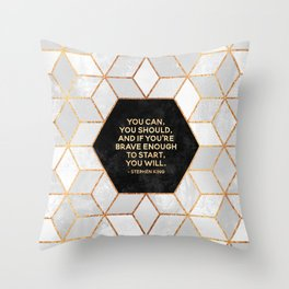 If you're brave enough / Design Milk Collab. Throw Pillow