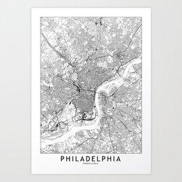 Philadelphia art prints society6 philadelphia white map art print freerunsca Gallery