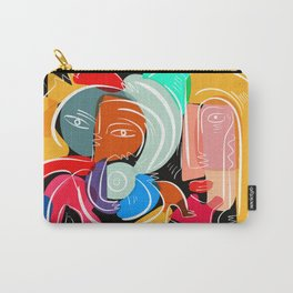 Love your family expressionist cubist street art Carry-All Pouch