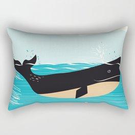 Vintage Whale Rectangular Pillow