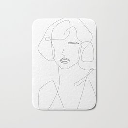 Abstract Beauty Outline Bath Mat