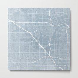 Anaheim Map, USA - Slate Metal Print