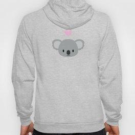 Cute koalas and pink hearts Hoody