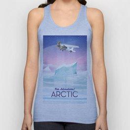 Arctic frozen flight poster. Unisex Tank Top
