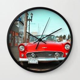 Beautiful, red T-Bird Wall Clock