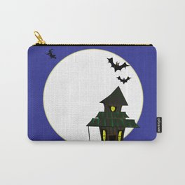 Halloween Cottoge Carry-All Pouch