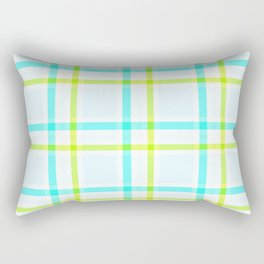 Summery Plaid Rectangular Pillow