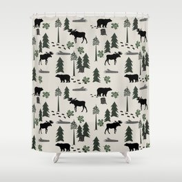 Black Bear Family Shower Curtain 31 95 26 Source Moose Curtains Society6
