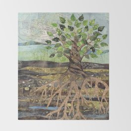 Deep Roots Throw Blanket