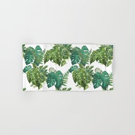 A Pattern of Plants Hand & Bath Towel