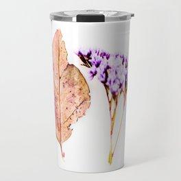 Nature Flower and Autumn Leaf Travel Mug