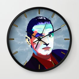 Portrait of Hans Holzel (Falco) Wall Clock