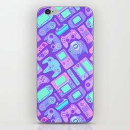 Video Game Controllers in Cool Colors iPhone Skin