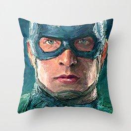CAPTAMERICA POSTER Throw Pillow