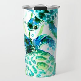 Sea Turtles, Turquoise blue Design Travel Mug