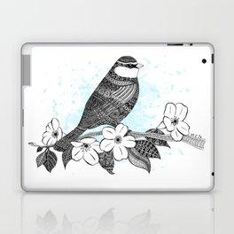 Bird and cherry blossoms Laptop & iPad Skin