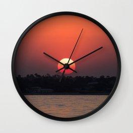 Really red sun Wall Clock