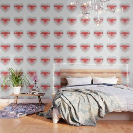 Arizona Word Cloud Heart Wallpaper