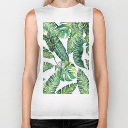 Jungle Leaves, Banana, Monstera #society6 Biker Tank