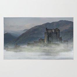 Eilean Donan Castle at dawn Rug