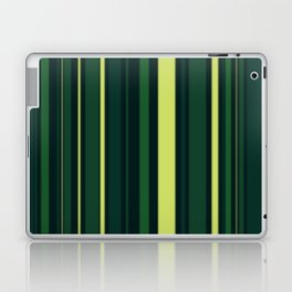 Yellow and Shades of Green Stripes Laptop & iPad Skin