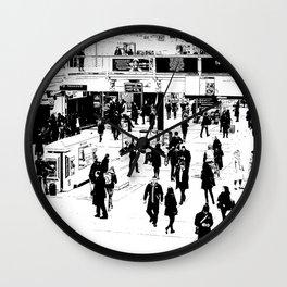 London Commuter Art Wall Clock