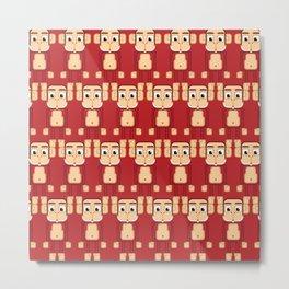 Super cute animals - Cheeky Red Monkey Metal Print