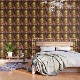 Buddha Head Gold Illustration Wallpaper