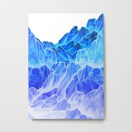 The cold mountain sea Metal Print
