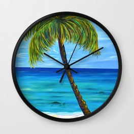 Maui Beach Day Wall Clock