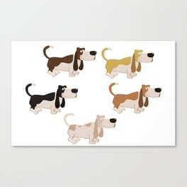 Basset Hound Colors Illustration Canvas Print