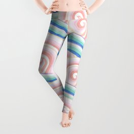 Pastel Auspicious Waves Leggings