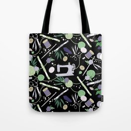 Stitch Witch (Purple/Green) Tote Bag