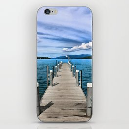 Stepping to the Sea iPhone Skin
